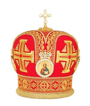 Mitres: Embroidered Bishop mitre no.74