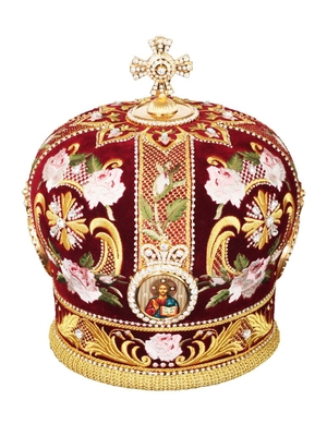 Mitres: Embroidered Bishop mitre no.81