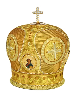 Mitres: Embroidered Bishop mitre no.95