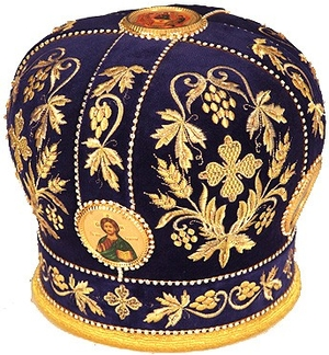Mitres: Embroidered mitre no.3