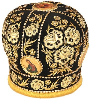 Mitres: Embroidered mitre no.9