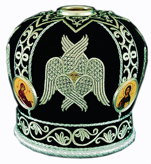 Mitres: Embroidered Priest mitre - 50