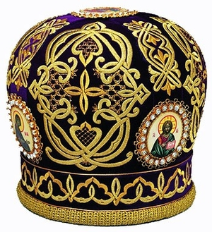 Mitres: Embroidered Priest mitre no.520