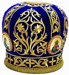 Mitres: Embroidered Priest mitre no.525