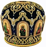 Mitres: Embroidered Priest mitre no.526