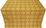 Corinth metallic brocade (yellow/gold with claret)