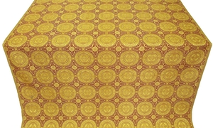 Corinth metallic brocade (yellow/gold with claret)