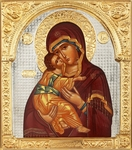 Religious icons: the Most Holy Theotokos of Vladimir