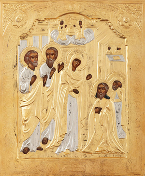 Religious icons: Appearance of the Most Holy Theotokos to St. Seraphim of Sarov