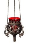 Hanging vigil lamp no.87 (blackening)