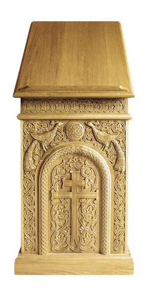 Church lecterns: Central lectern