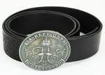 Orthodox leather belt For Faith, Tsar and Fatherland