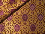 Slavonic Cross Greek metallic brocade (violet/gold with purple)