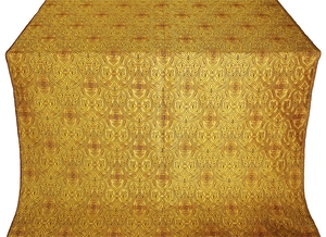 Slavonic Cross Greek metallic brocade (yellow/gold)