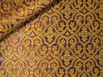 Slavonic Cross Greek metallic brocade (violet/gold)