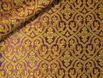 Slavonic Cross Greek metallic brocade (violet/gold)