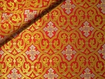 Slavonic Cross Greek metallic brocade (red/gold with silver)