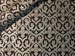 Slavonic Cross Greek metallic brocade (black/silver)