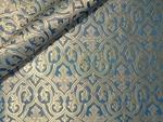 Slavonic Cross Greek metallic brocade (white/silver - blue)