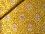 Slavonic Cross Greek metallic brocade (yellow/gold with silver)