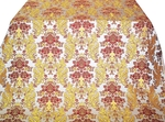 Bucoleon Garden Greek metallic brocade (white/gold with claret)