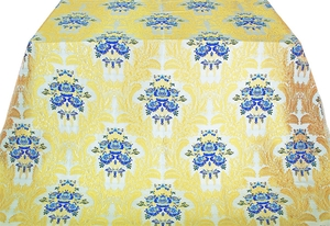 Justinian Bouquet Greek metallic brocade (white/gold with blue)