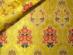 Halki Bouquet Greek metallic brocade (yellow/gold with red)
