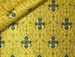 Slavonic Cross Greek metallic brocade (yellow/gold with green)