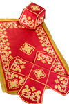 Embroidered chalice covers (veils) - red velvet with Gold thread
