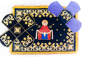 Chalice covers (veils) with the Icon of Most Holy Theotokos