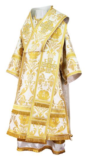 Bishop vestments - rayon brocade S4 (white-gold)