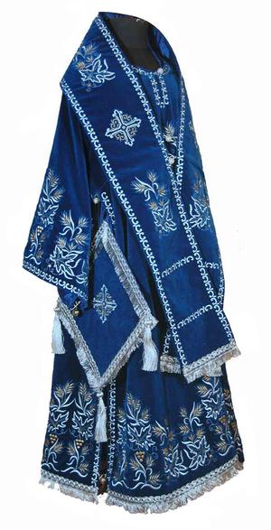 Bishop embroidered vestment set Northern Vine