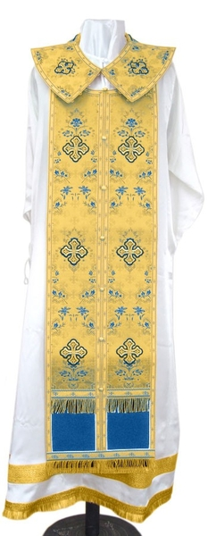 Epitrakhilion set - metallic brocade BG2 (blue-gold)