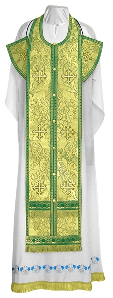 Epitrakhilion set - metallic brocade BG3 (green-gold)