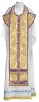 Epitrakhilion set - metallic brocade BG3 (violet-gold)
