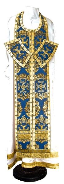 Epitrakhilion set - metallic brocade BG5 (blue-gold)