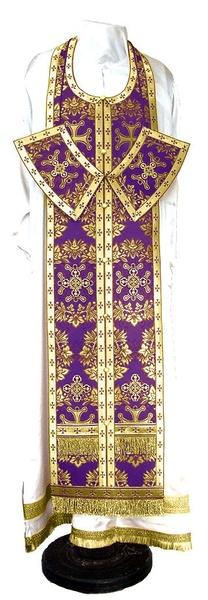 Epitrakhilion set - metallic brocade BG5 (violet-gold)
