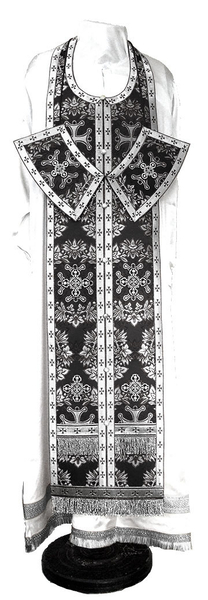 Epitrakhilion set - metallic brocade BG5 (black-silver)
