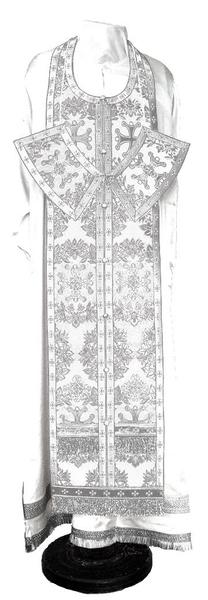 Epitrakhilion set - metallic brocade BG5 (white-silver)