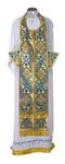 Epitrakhilion set - rayon brocade S2 (blue-gold)