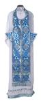 Epitrakhilion set - rayon brocade S2 (blue-silver)