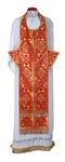 Epitrakhilion set - rayon brocade S2 (red-gold)