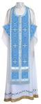 Epitrakhilion set - rayon brocade S3 (blue-silver)