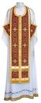 Epitrakhilion set - rayon brocade S3 (claret-gold)