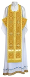 Epitrakhilion set - rayon brocade S3 (yellow-gold)