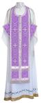 Epitrakhilion set - rayon brocade S3 (violet-silver)