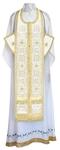 Epitrakhilion set - rayon brocade S3 (white-gold)