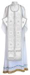 Epitrakhilion set - rayon brocade S3 (white-silver)