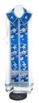 Epitrakhilion set - rayon Chinese brocade (blue-silver)