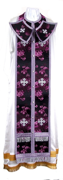 Epitrakhilion set - rayon Chinese brocade (violet-silver)